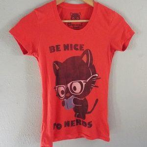 Chococat Be Nice to Nerds Red Shirt
